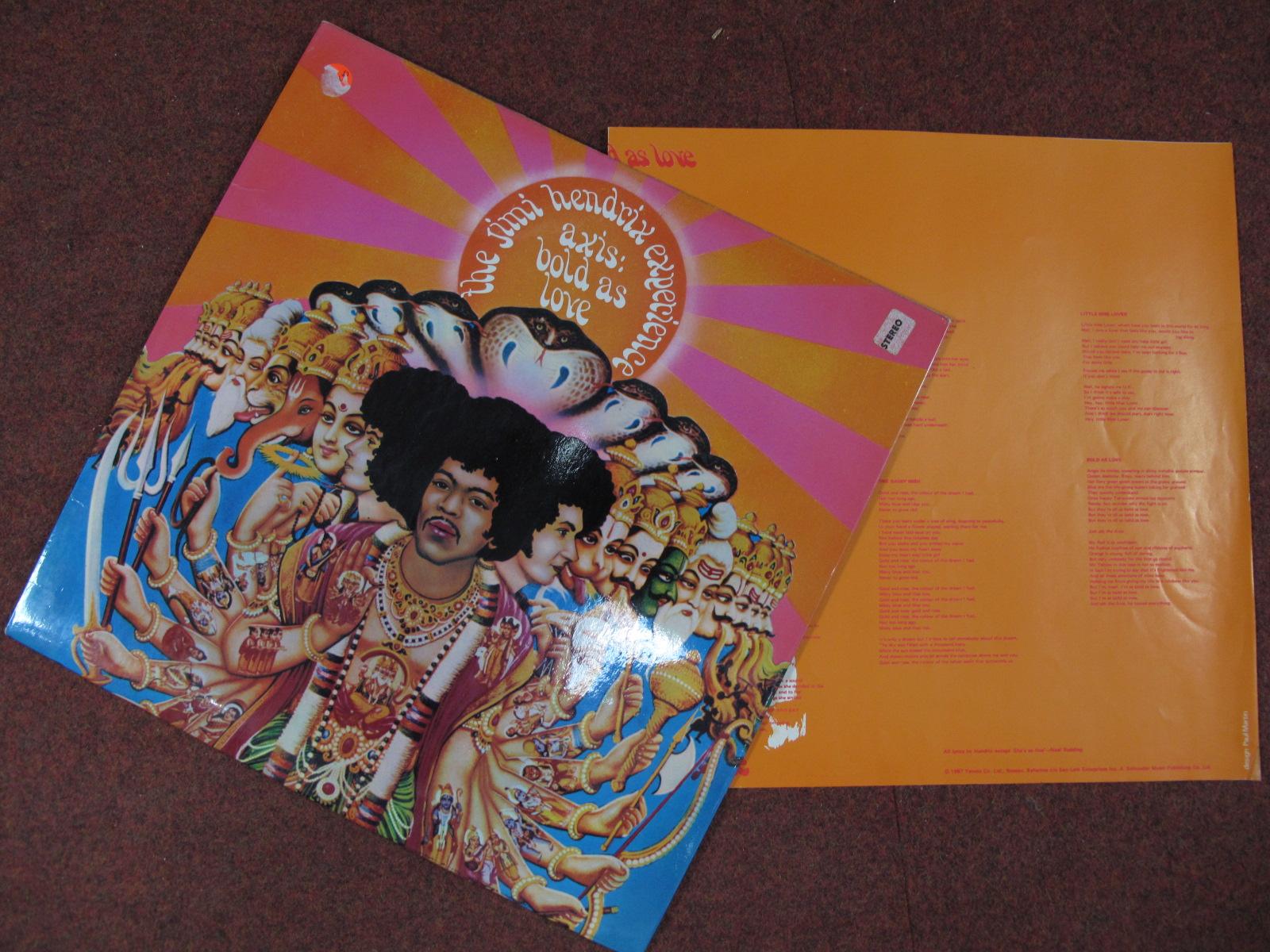 Lot 735 - Jimi Hendrix 'Axis Bold As Love' LP, 1967, (Track stereo 613003 A1/B1 matrix, laminated flip Earnest