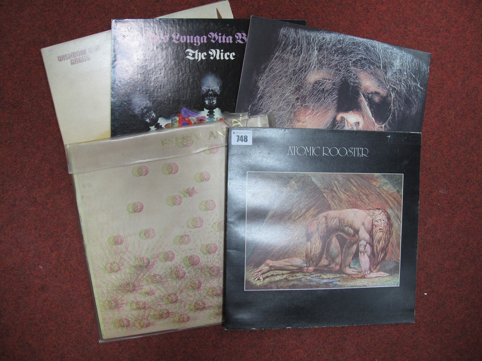 Lot 748 - Prog Rock LP's Atomic Rooster 'Death Walks Behind You', Family 'Anyway....'; Wishbone Ash 'Argus';