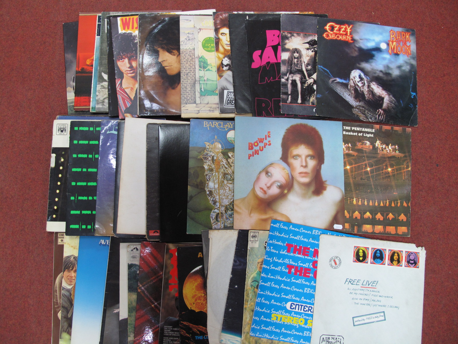 Lot 739 - A Collection of LP's, to include David Bowie, Queen, Elton John (coloured vinyl), The Who, Budgie,