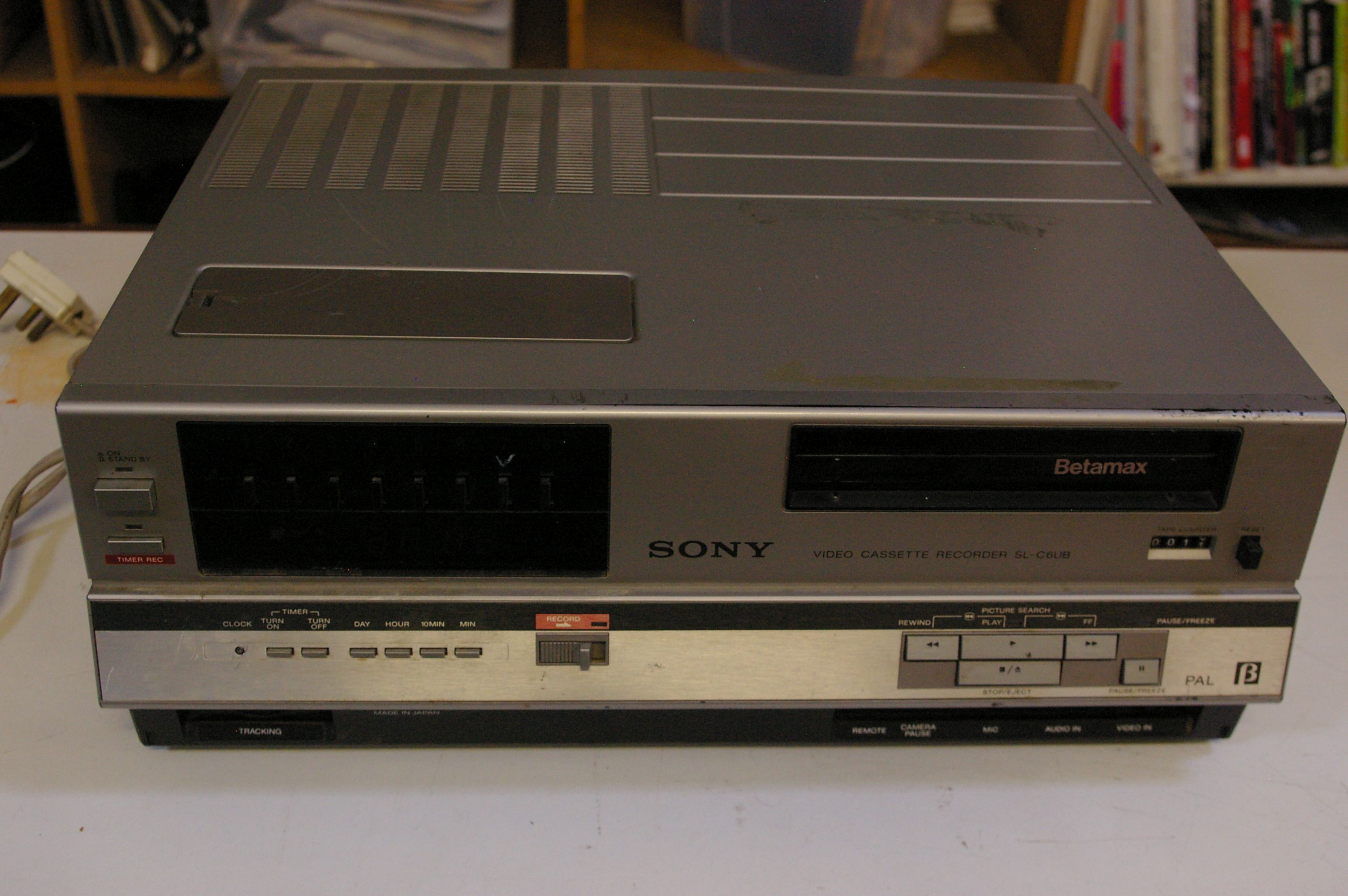 Lot 364 - A vintage Sony Betamax player SL-C6UB, and a Panasonic video recorder Provenance: from the estate of