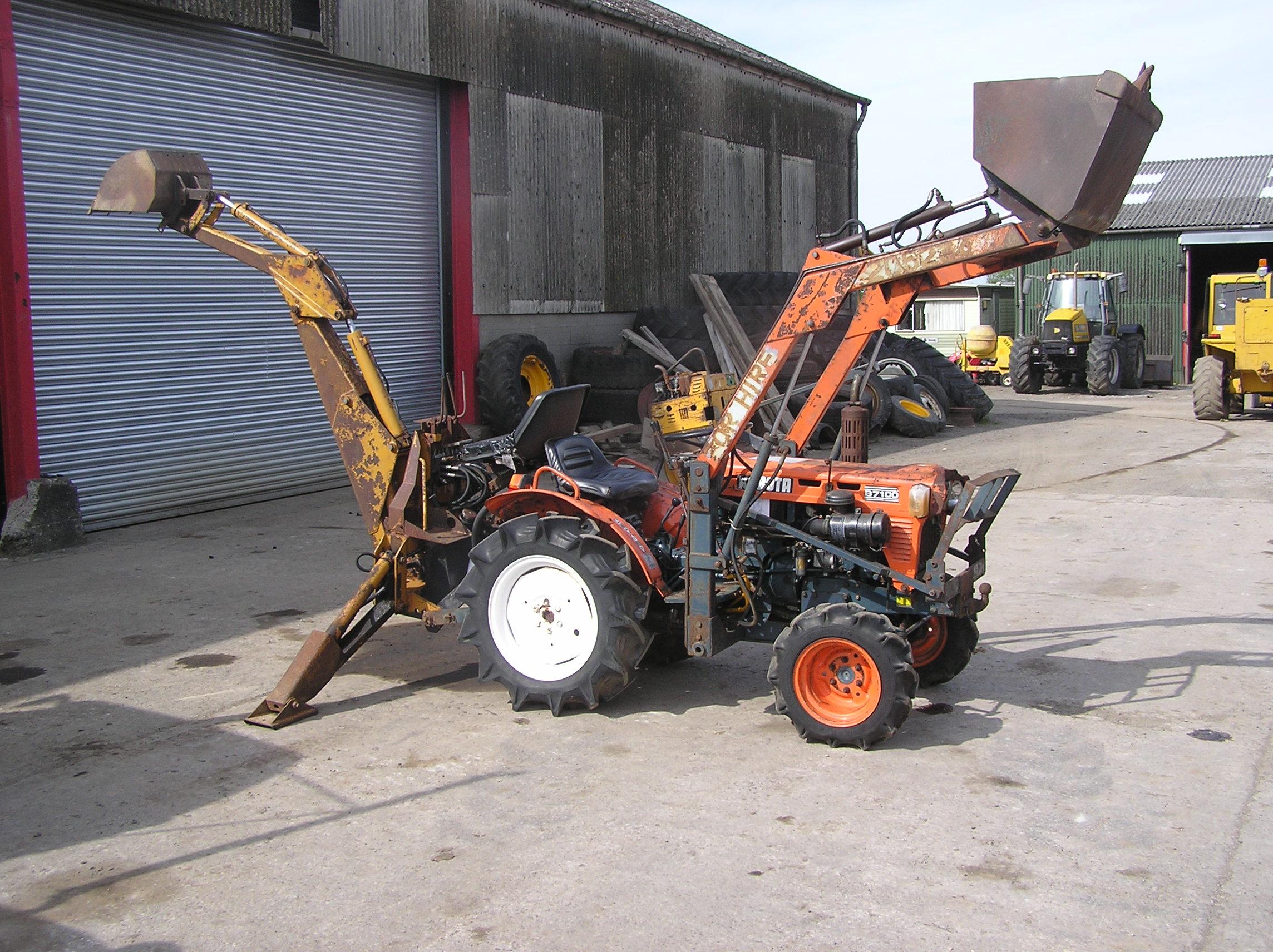 Kubota B7100 Loader : Kubota b tractor appraisal sold as seen without