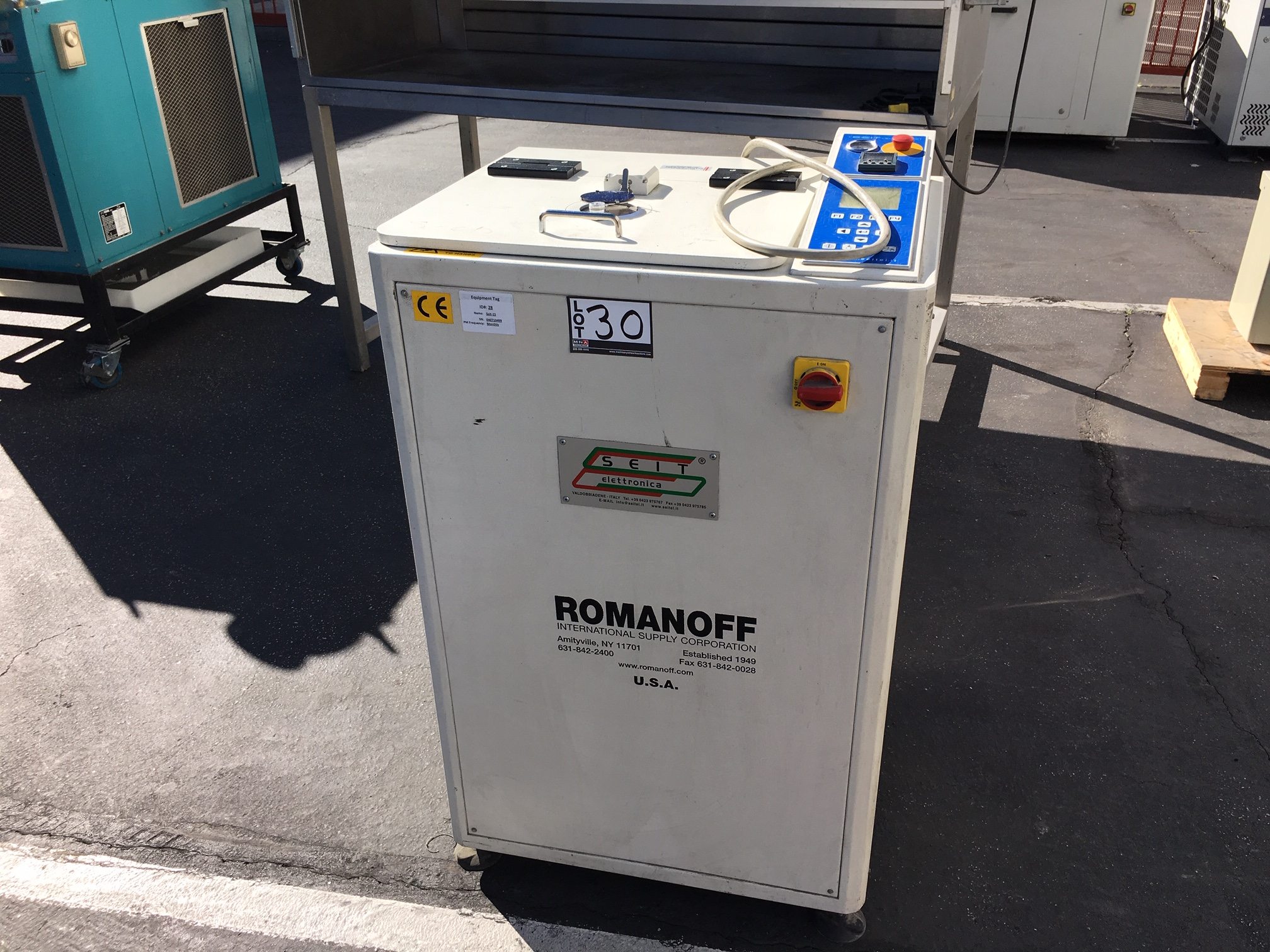Lot 30 - Romanoff Supercast 2/O4KW Induction Melting Furnace, s/n 040710497, New 2007