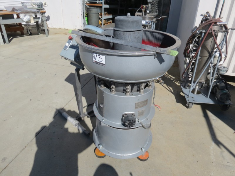 Lot 13 - Sweco Vibro-Energy FM-3 Vibratory Deburrer, s/n FM-1161-15 (Moved Outside for Photos)