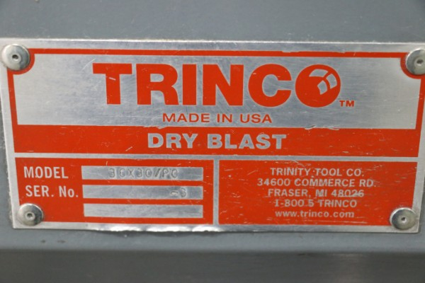 Lot 10 - Trinco 800PT 36x30/PC Dry Blast Cabinet