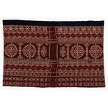 ANTIKER IKAT Baumwolle. Indonesien. 1. Hälfte 20. Jh. Länge 260 cm, Breite 90 cm Ikat ist