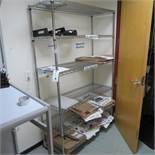 (2) 5' Sections Portable Erecta Shelving
