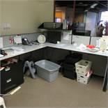 {LOT} (3) L-Shaped Workstations, (1) 12' x 12', (1) 8' x 10' & (1) 8' x 8'