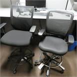 (2) Adjustable Swivel Seat & Back Stools