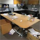 8' x 4' Metal Base Work Table