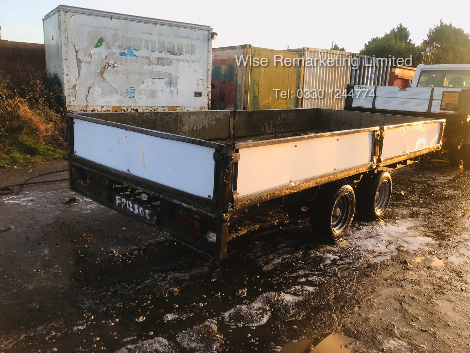 Ifor Williams 14ft Double Wheel Dropside Trailer - 2004/5 Year - Image 3 of 6