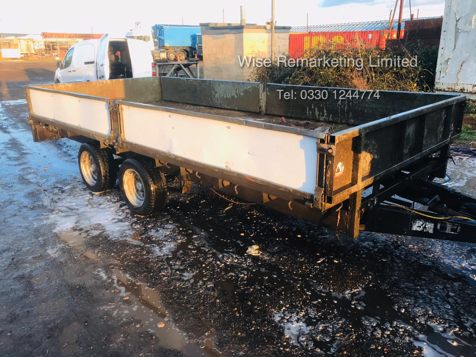 Ifor Williams 14ft Double Wheel Dropside Trailer - 2004/5 Year - Image 2 of 6