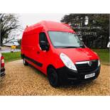 (RESERVE MET)Vauxhall Movano 35 2.3 CDTi BiTurbo EcoFlex **HIGH ROOF** 2016 Model - Air con- 1 Owner