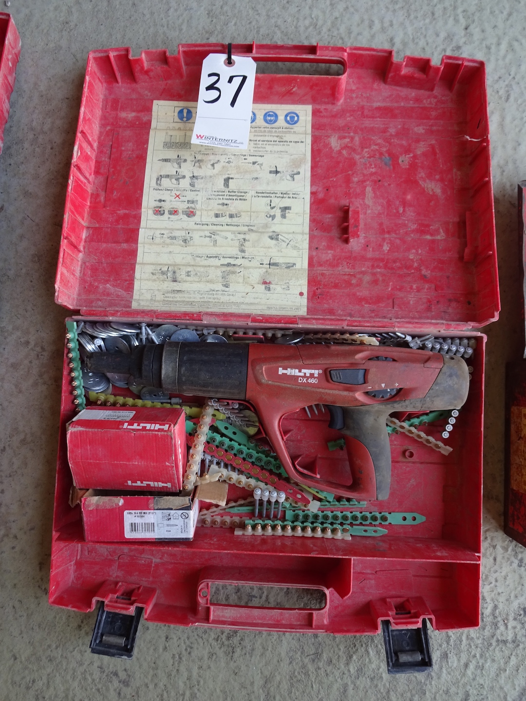 Lot 37 - HILTI DX 460 POWDER ACTUATED FASTENER WITH CASE