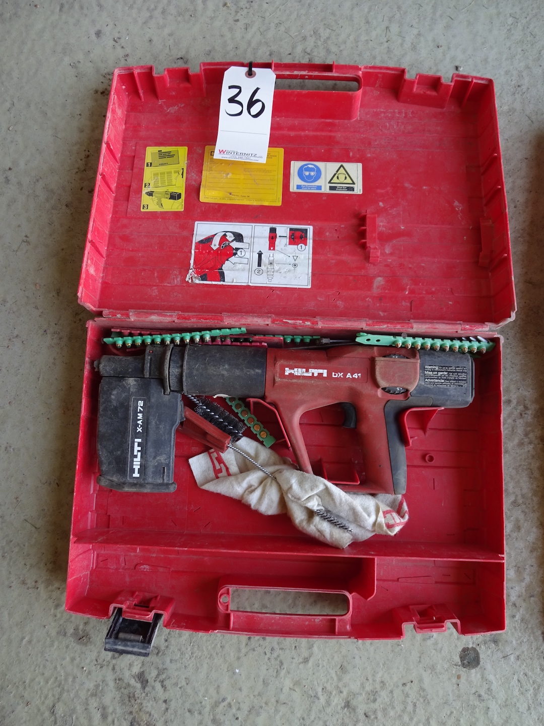 Lot 36 - HILTI DX A41 POWDER ACTUATED FASTENER WITH CASE