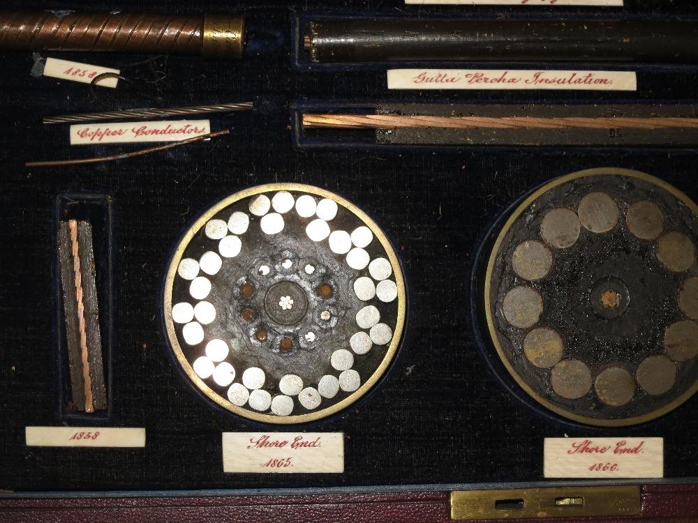 A Fine Cased Set Of Transatlantic Telegraph Cable Samples