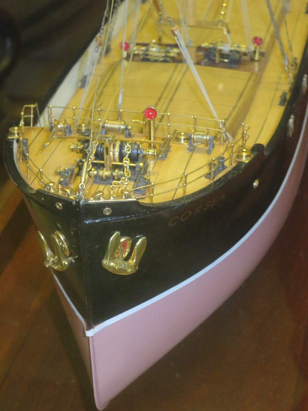 Lot 302 - A BUILDER'S MODEL FOR THE CARGO SHIP S.S. CORSEA
