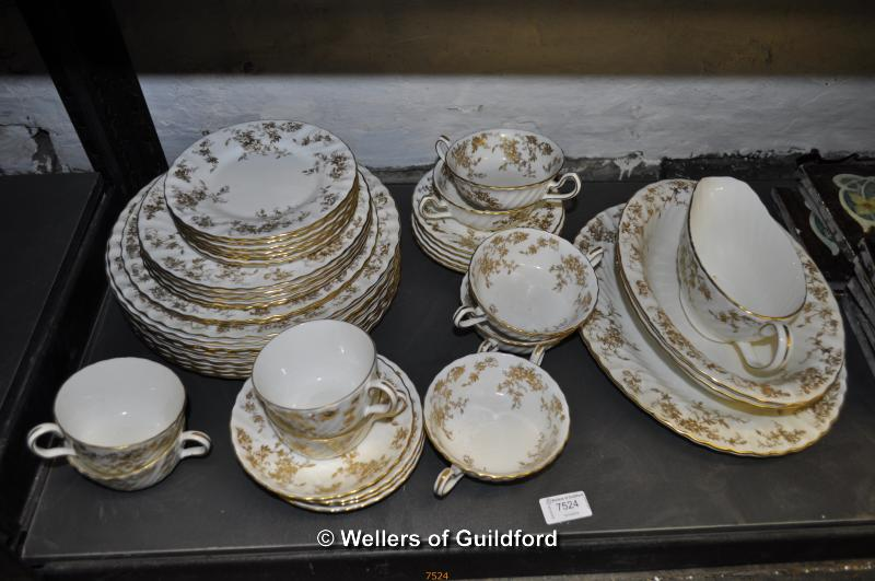 Lot 7524 - A small quantity of Minton Gold Ancestral dinner and tea wares.
