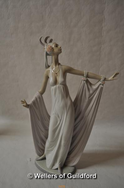 Lot 7475 - Lladro figure of a lady dancing, 35cm.