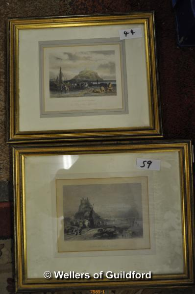 Lot 7585 - Nine pictures and prints.