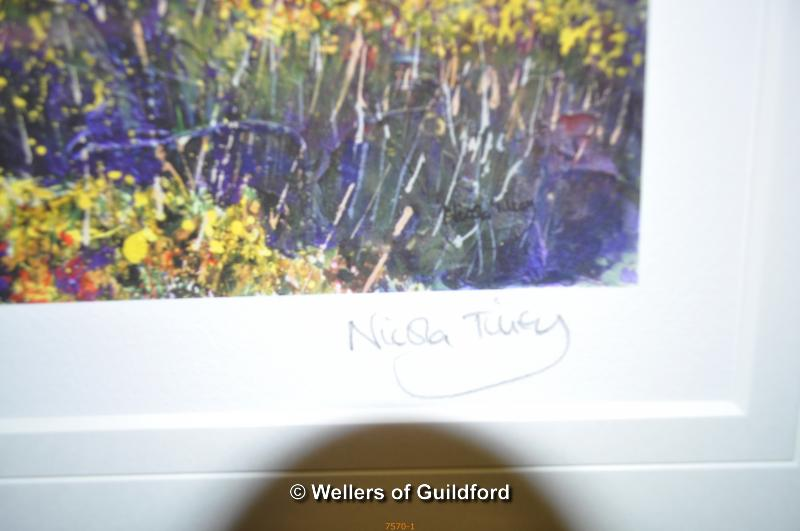 Lot 7570 - After Nicola Tilley, two prints signed in pencil, 'Trevega Gorse', 26.5 x 33.5cm and 'Stable