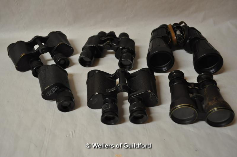 Lot 7623 - Collection of binoculars including Optolyth, Kershaw, Dolland, Carl Schulz etc