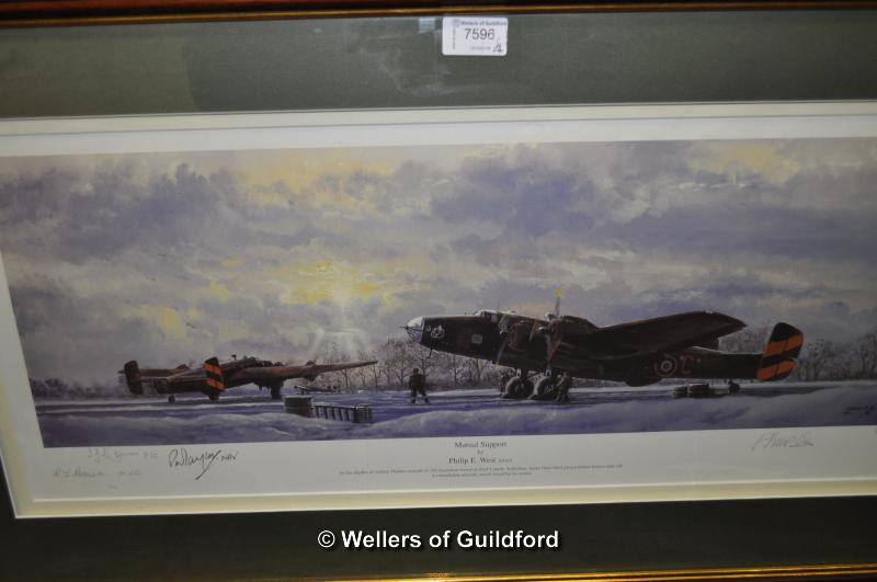 Lot 7596 - After Philip E. West, 'Mutual Support' limited edition print 77/300, signed in pencil, 20 x 62cm;