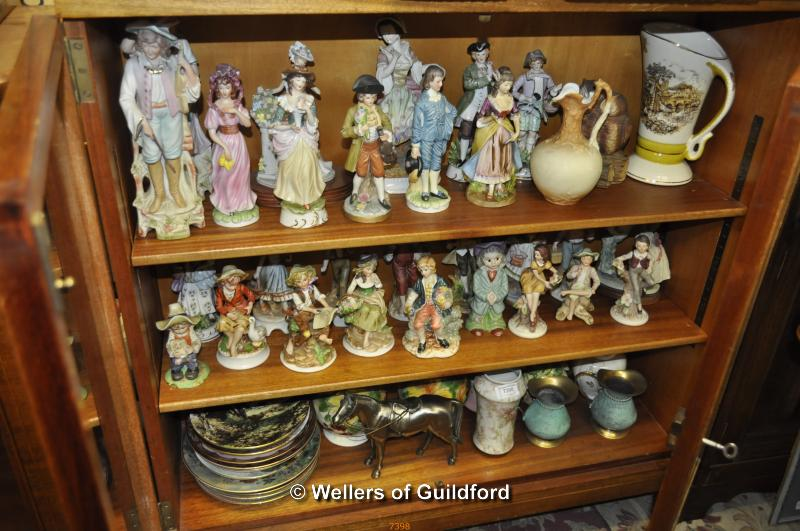 Lot 7398 - A large quantity of ceramic figurines, vases, collectors' plates and a modern Japanese metal model