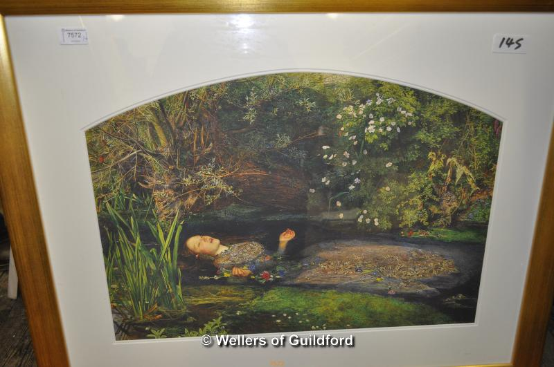 Lot 7572 - Four prints including one after Millais (4)