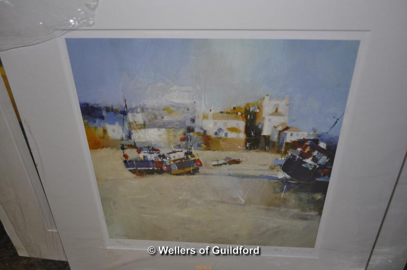 Lot 7579 - Thirteen unframed prints and photographs by Cornish artists including Glyn Macey, Nicola Tilley,