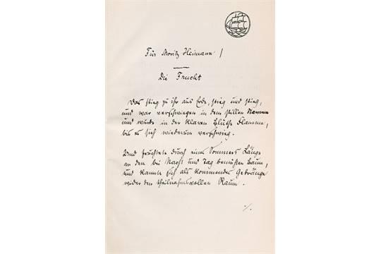 Rilke gedichte ruhe