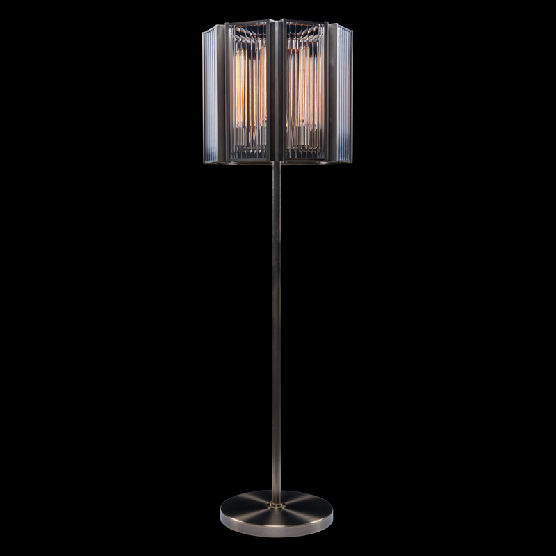 Lot 22 - Elixir Floor Lamp (EU) The Elixir Range Was Inspired By 1930's Strict Geometrical Glass And Brass