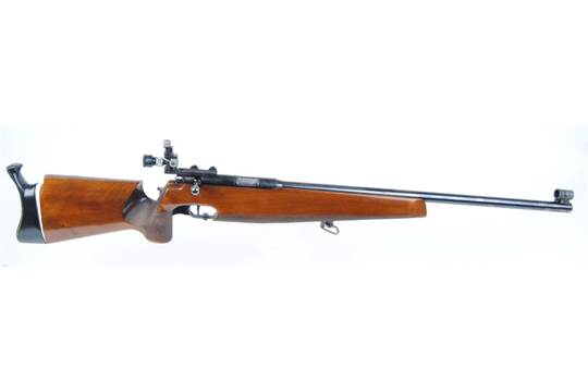 22 Anschutz Match 54, target rifle, with heavy barrel, diopter