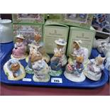 Ten Royal Doulton 'Brambly Hedge' Models; to include Mr Saltapple, Mr Saltapple with basket,