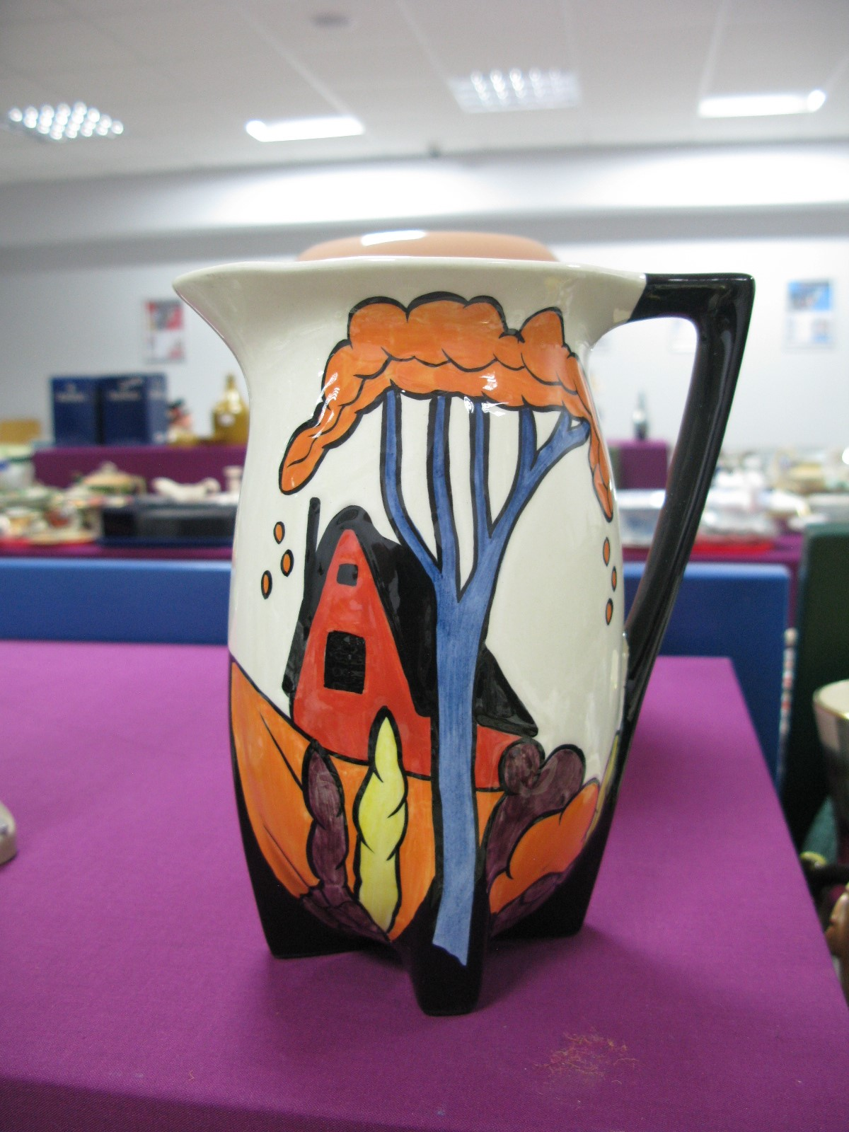 Lorna Bailey 'Chetwynd' Jug for Old Ellgrave Pottery,19cm high.