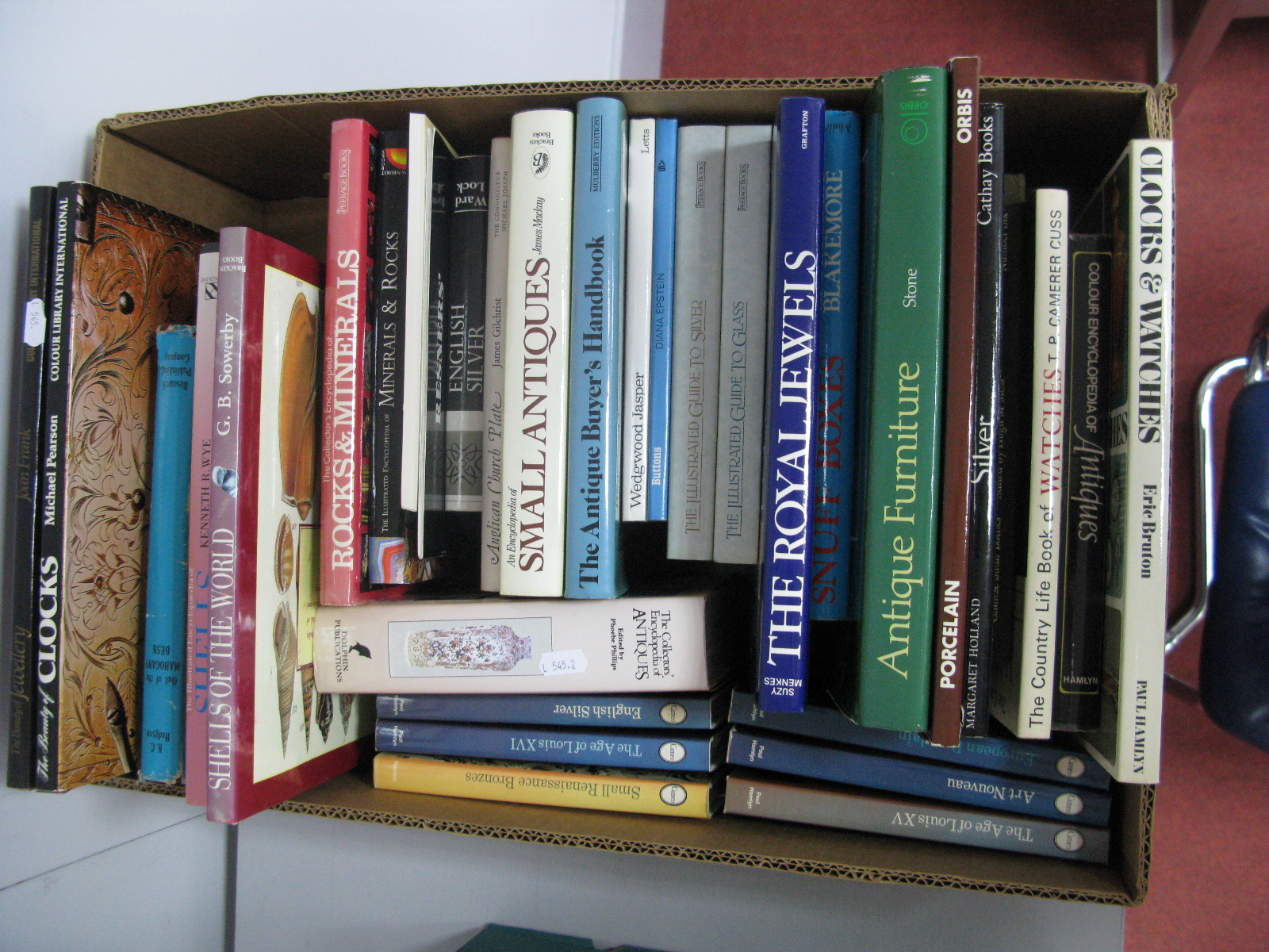 Lot 12A - A Quantity of Antique and Art Reference Books, clocks and watches, jewellery, English silver,