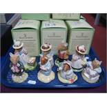 Eight Royal Doulton 'Brambly Hedge' Models; including Lady Woodmouse, Dusty Dogwood, Pebble, Lord