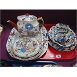 Mason's Ironstone Teapot, meat plate, dish, jugs etc, all decorated in the Imari palette.