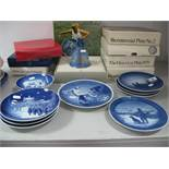 Royal Copenhagen St Marks Cathedral, Venice Bell, various commemorative and Christmas plates,