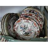 Ashworth, Mason's and Other Dinner Plates:- One Box