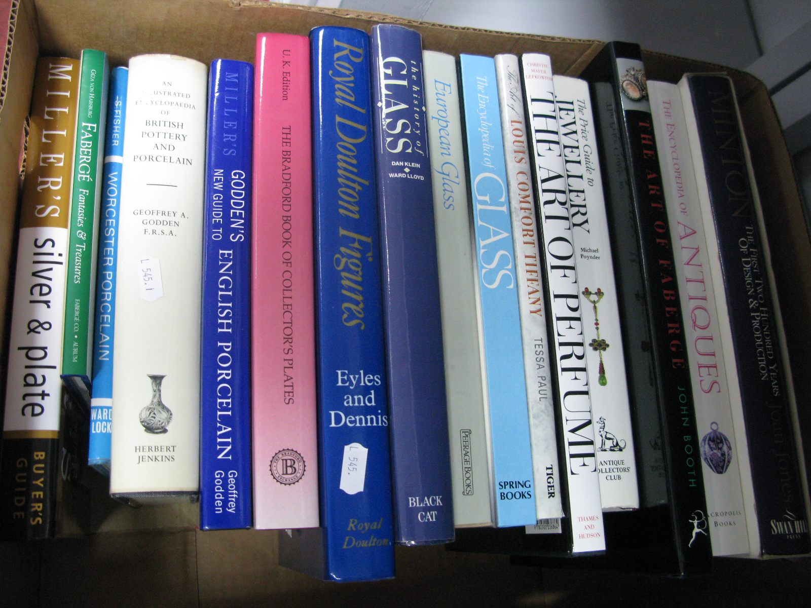 Antique Reference Books, Joan Jones Minton; John Booth The Art of Faberge; The Art of Perfume;