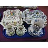 Mason's 'Nabob' Tureen and Cover, with leaf finial, an Ashworth tureen and cover, large Hydra jug in