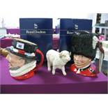 Two Royal Doulton Character Jugs, 'The Guardsman' D6755 and 'Beefeater' D6206, (both boxed) and a