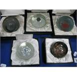 Caithness Paperweights: Arctic Night, limited edition No. 164/1500; Intruder No. 475/2000; Triad No.