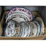 Meakin, Wood, Stone, Ashworth Meat Plates, Mason's and Other Table Plates:- One Box
