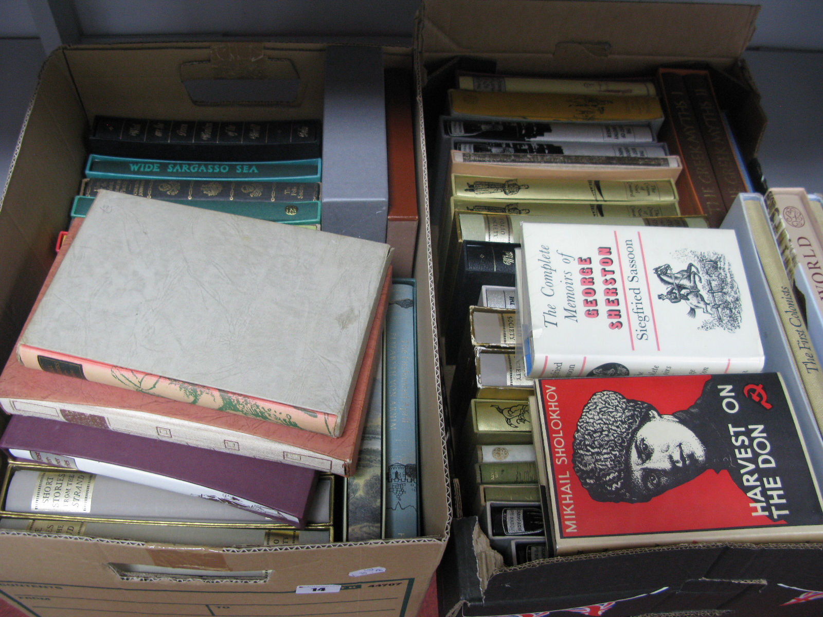 A Quantity of Mainly Folio Society Books, many duplicated, etc:- Two Boxes