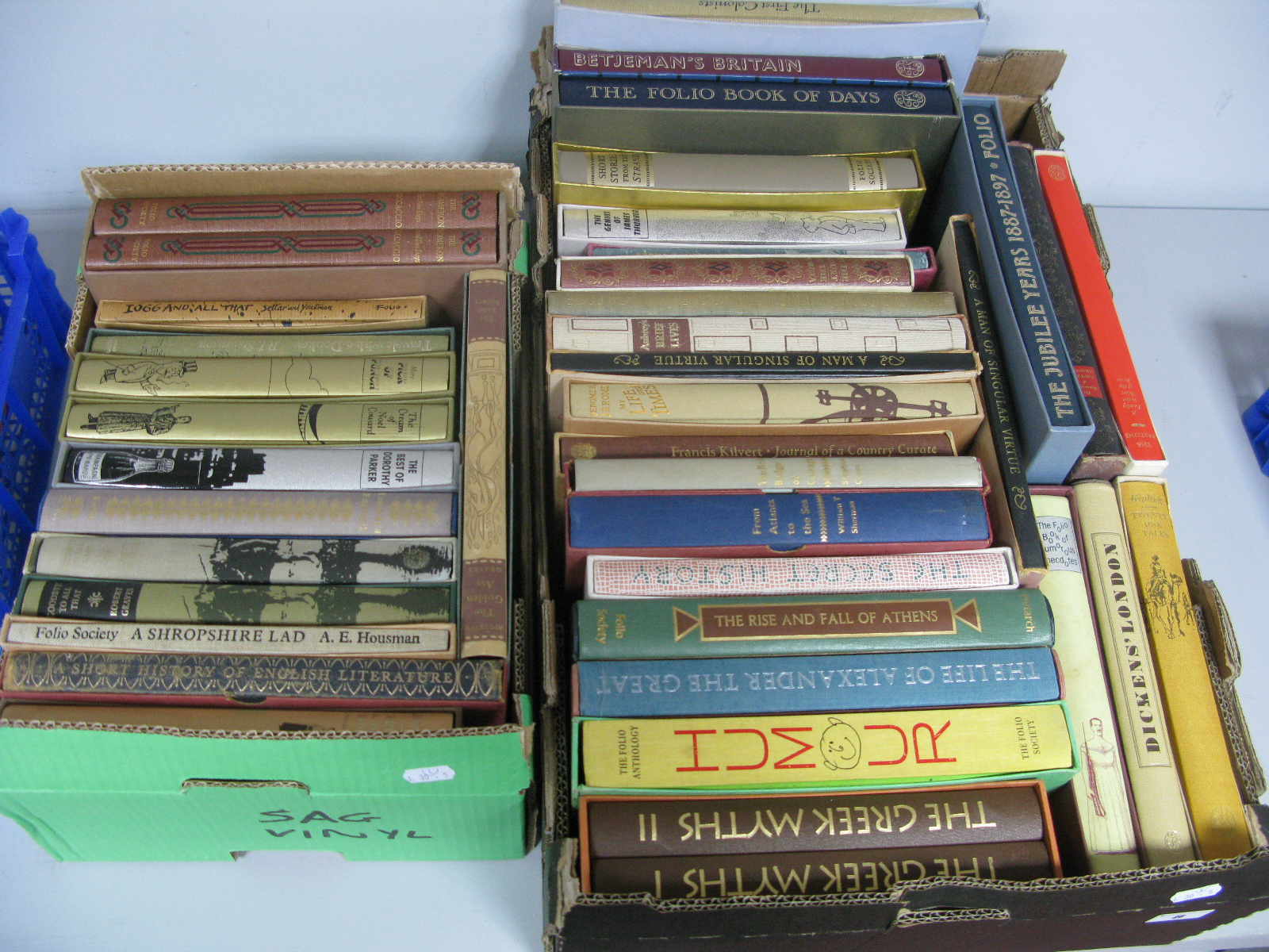 The Folio Society - Over forty books, historical reference, humour and general interest, almost