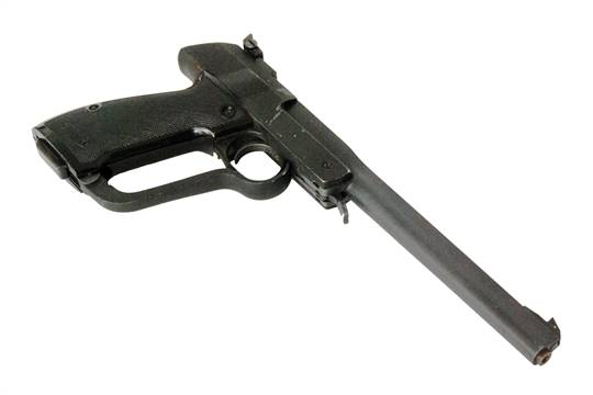 A Walther  177 pump action air pistol with break barrel in