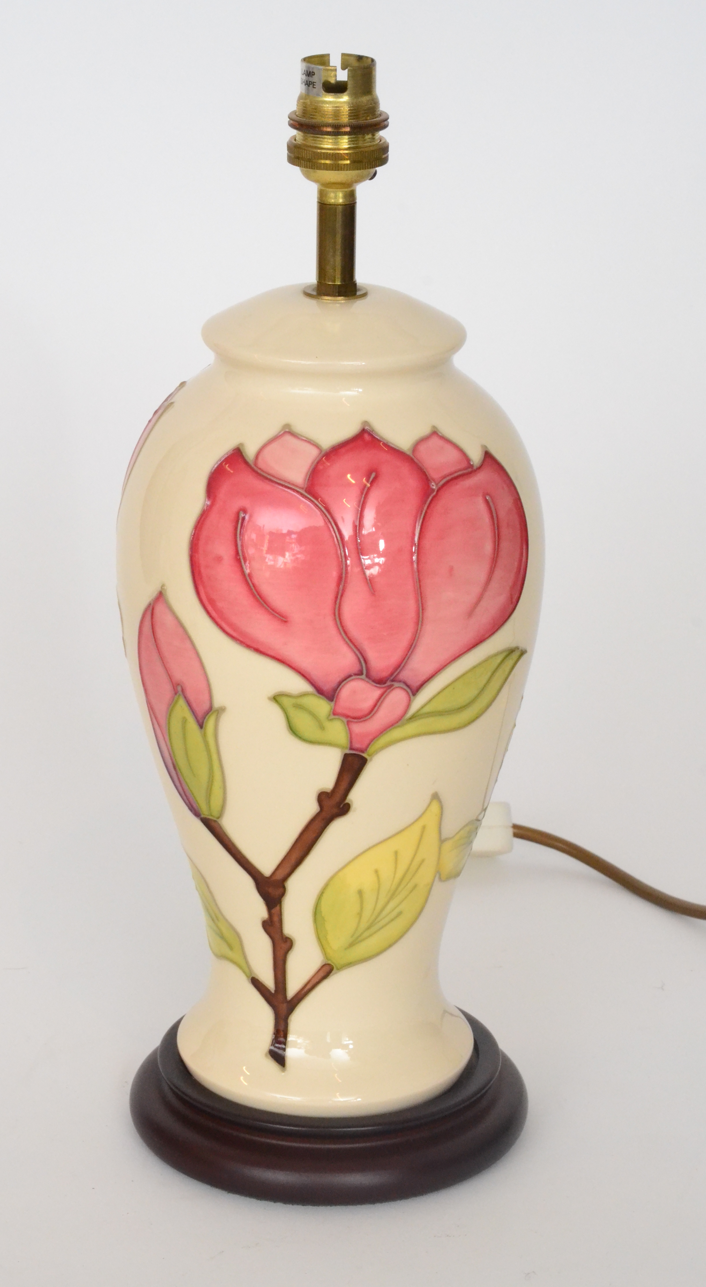 A walter moorcroft magnolia pattern table lamp decorated with pink lot 49 a walter moorcroft magnolia pattern table lamp decorated with pink flowers to a reviewsmspy