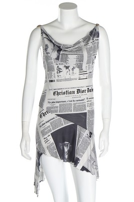 ebf162b7 Lot 306 - A John Galliano for Christian Dior newspaper print slip dress,  Autumn-