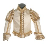 A rare ivory satin doublet worn by a Gentleman Usher to the coronation of King George IV, 19th July,